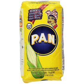 P.A.N Harina Blanca - Pre-cooked White Corn Meal 1kg