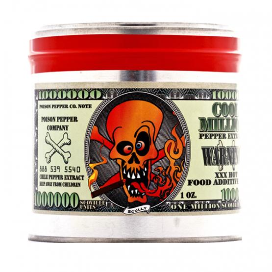 Cool Million 1 Million Scoville Units Hot Sauce