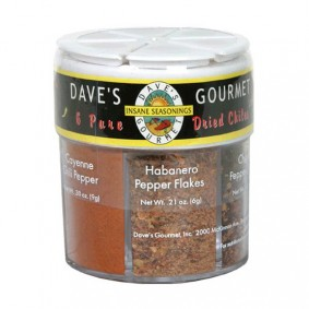 Dave's 6 Pure Dried Chiles (6 Way Shaker)